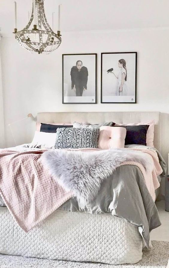 Camas acogedoras para invierno con mantas peluditas mi - Ikea mantas para camas ...