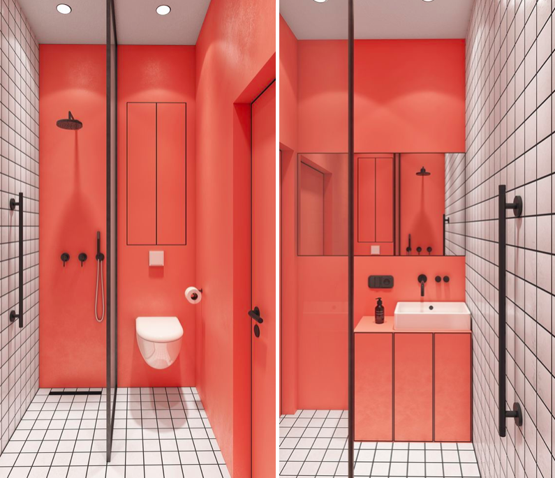 inspiración de baldosas de baño Inspiracin Baos Baldosas Cuadradas Para Un Efecto